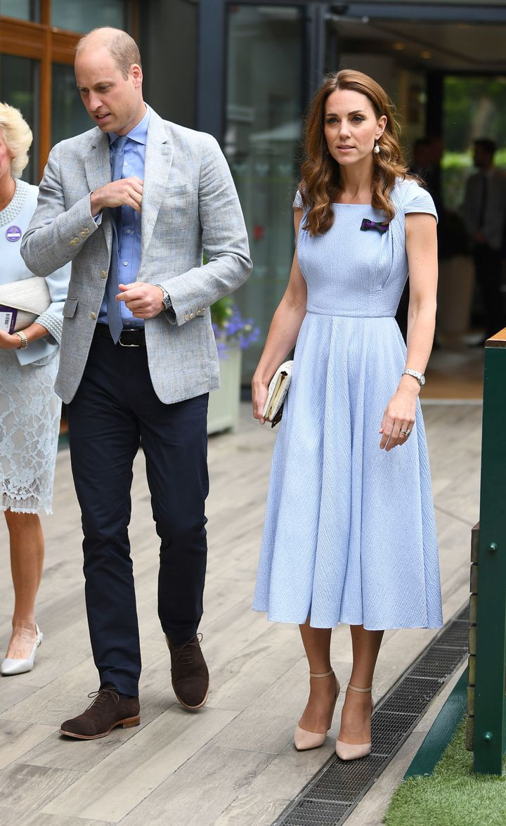 The Duke and Duchess of Cambridge arriving at Wimbledon.