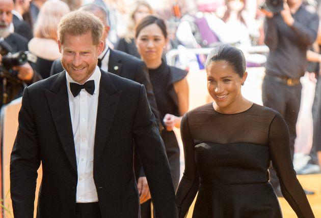Meghan Markle et Beyoncé glamour sur le tapis rouge du Roi Lion