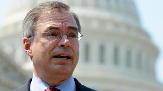 """FILE – In this June 28, 2012, file photo Rep. Andy Harris, R-Md. speaks during the GOP Doctors Caucus news conference in response to the Supreme Court health care ruling on Capitol Hill in Washington. in the GOP's weekly address Saturday, May 18, 2013, Harris said, """"If we've learned anything this week, it's that the IRS needs less power, not more,"""" """"As matter of fact, it turns out that the IRS official who oversaw the operation that's under scrutiny for targeting conservatives is now in charge of the IRS's Obamacare office. You can't make this stuff up,"""" he said. (AP Photo/Cliff Owen, File)"""