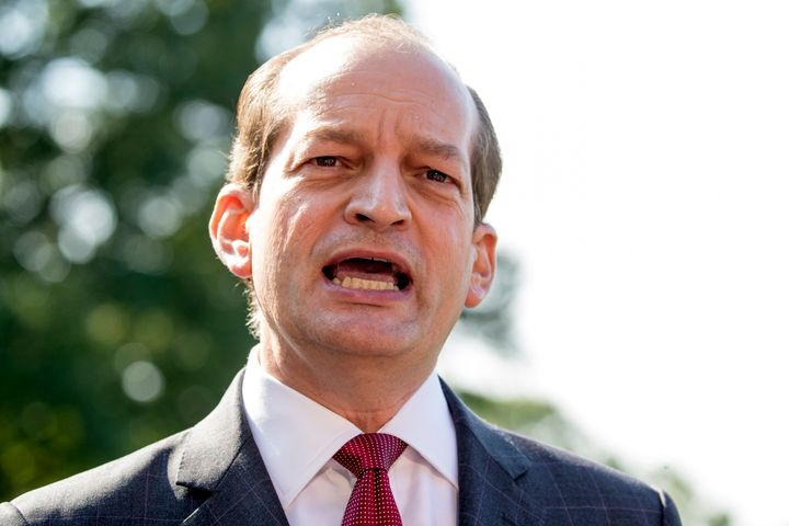 Alex Acosta, who oversaw Epstein's past deal to avoid federal prosecution, resigned last week as Secretary of Labor under Pre