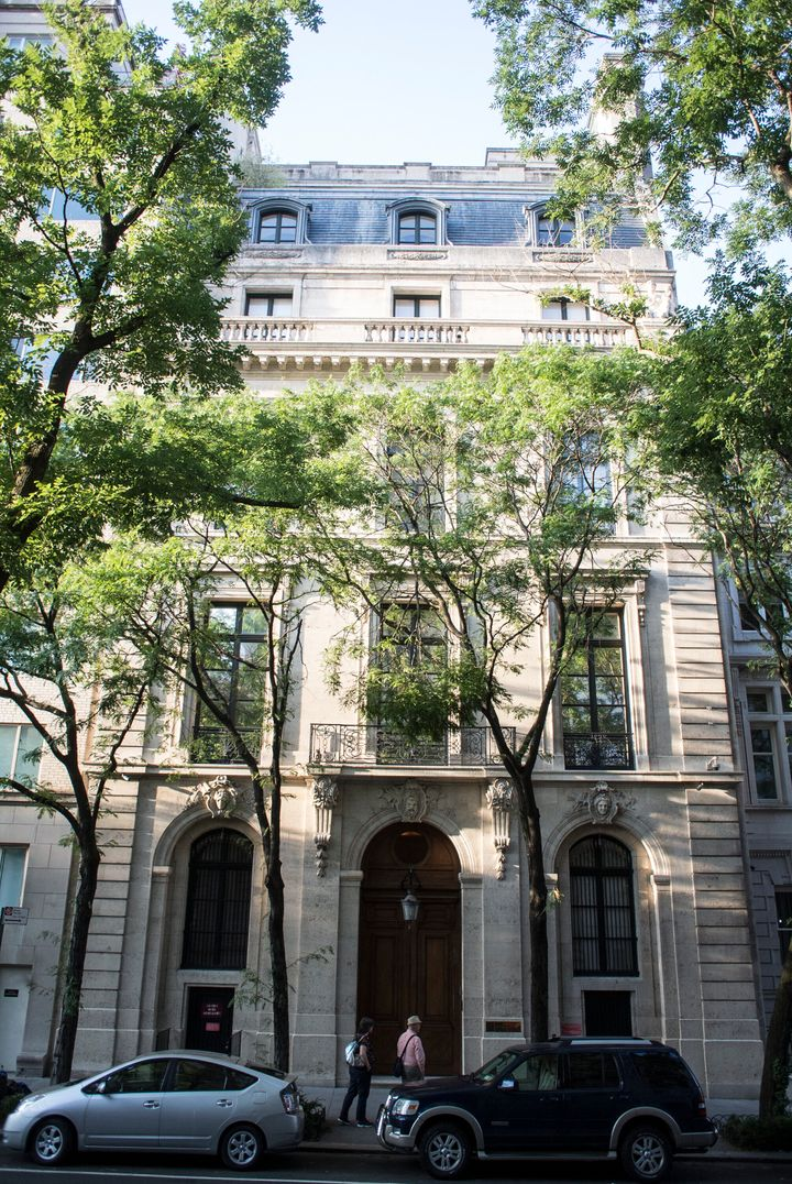 The townhouse where the financier Jeffrey Epstein is accused of engaging in sex acts with underage girls is one of the larges