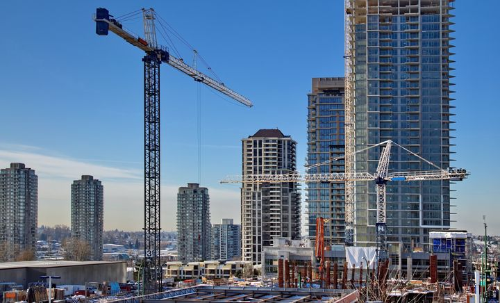 High-rise condo towers under construction in Burnaby, B.C. Greater Vancouver has been among the weakest of Canada's housing markets this year.