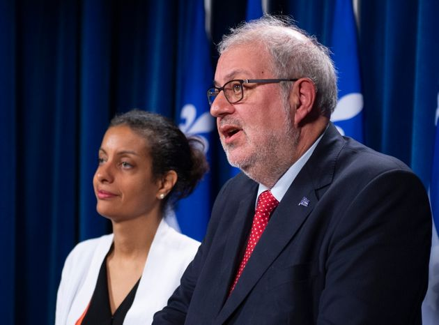 Photo d'archives de Dominique Anglade et de Pierre
