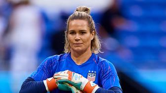 LYON, FRANCE - JULY 02: Ashlyn Harris of the USA looks on prior to the 2019 FIFA Women's World Cup France Semi Final match between England and USA at Stade de Lyon on July 2, 2019 in Lyon, France. (Photo by David Aliaga/MB Media/Getty Images)