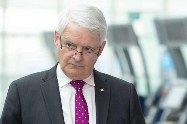 Federal Minister of Transport Marc Garneau at Toronto Pearson Airport, in Mississauga, Ont. on May 24,