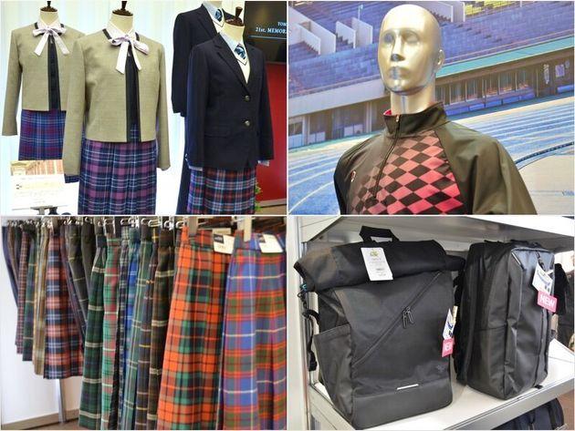 学生服メーカー「トンボ」の展示会場にて