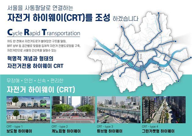 서울시가 '자전거 고속도로'를