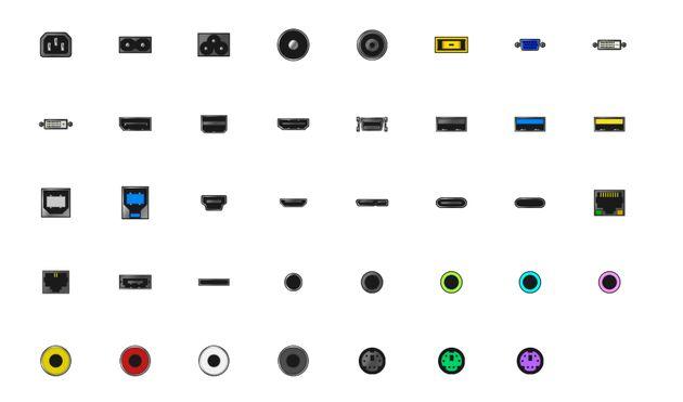 USB, HDMI, LAN 단자를 그린 이모티콘은 왜 우리에게