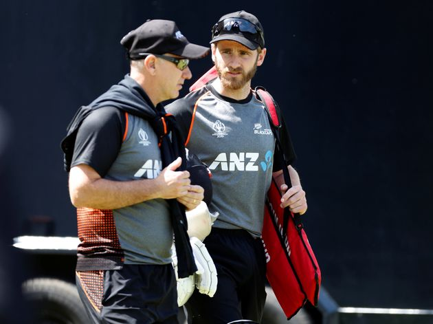 New Zealand's Kane Williamson and head coach Gary