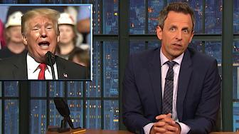 Seth Meyers calls out Trump's racism.