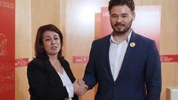 Lastra (PSOE) se reúne este martes con Rufián (ERC) en el Congreso para hablar de la investidura de