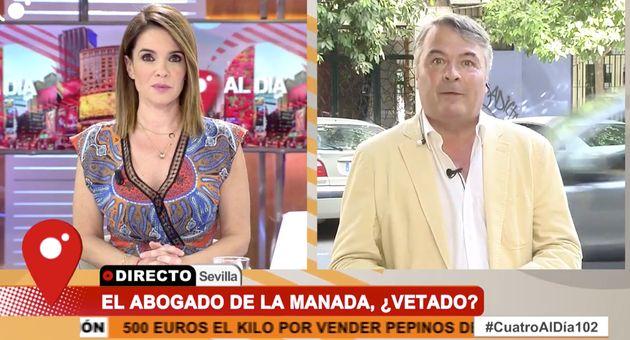 Carme Chaparro se encara en pleno directo de 'Cuatro al día' con el abogado de La Manada: