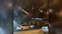 El futuro es ahora: disparan fuegos artificiales desde un dron a unos vecinos