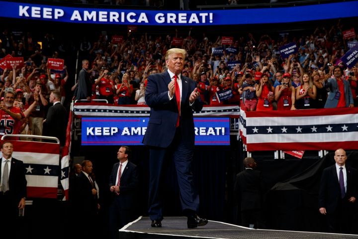 President Donald Trump raised $108 million across four campaign accounts for his reelection campaign in the second quarter.