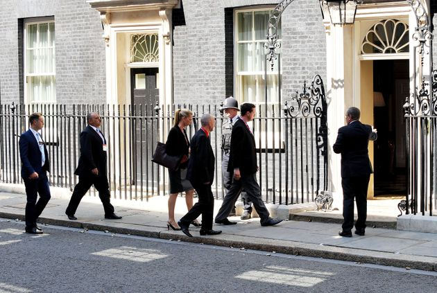 Families of Britons killed in the downing of the plane visit Downing Street for a meeting with David...