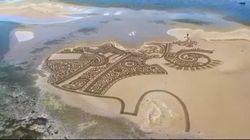 De l'art sur les bancs de sable en