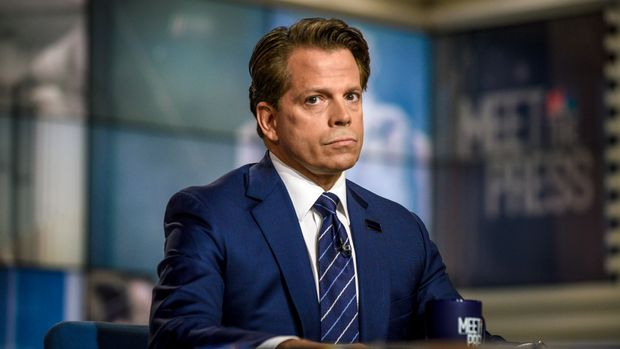 "MEET THE PRESS -- Pictured: (l-r)  Anthony Scaramucci, former White House Communications Director, appears on ""Meet the Press"" in Washington, D.C., Sunday, Oct. 21, 2018.(Photo by: William B. Plowman/NBC/NBC NewsWire via Getty Images)"