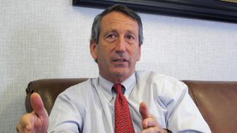 FILE - In this Dec. 18, 2013, file photo, U.S. Rep. Mark Sanford, R-S.C., discusses his first months back in Congress during an interview in Mount Pleasant, S.C. A spokesman for the South Carolina Law Enforcement Division said on Tuesday, July 12, 2016 that the agency is investigating after Sanford's niece's foot was apparently injured in an incident involving the congressman. An incident report said it happened on June 18, 2016 on a dock at the Sanford family farm near Beaufort, S.C. (AP Photo/Bruce Smith, File)