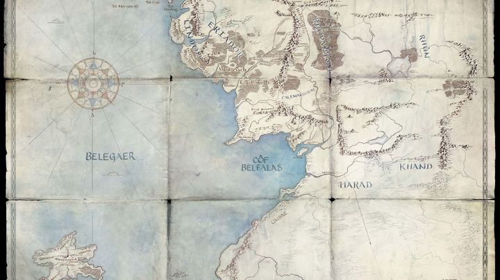 """A map Amazon released to tease its upcoming """"Lord of the Rings"""" show."""