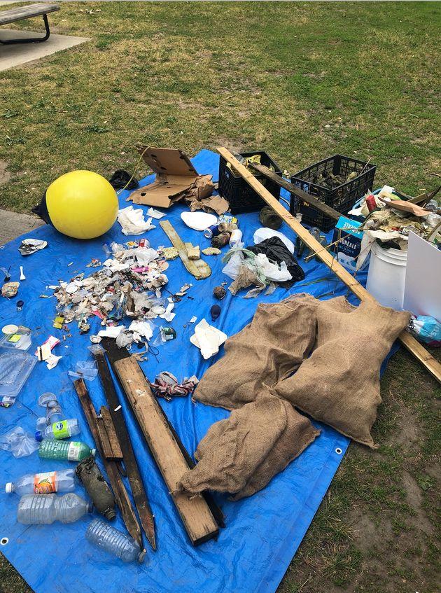 Les 29 kg de déchets ramassés dans le canal de
