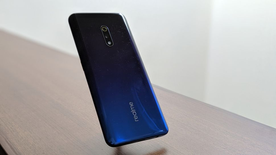 The Realme X is a good looking and light phone, but the rear-panel does get smudged