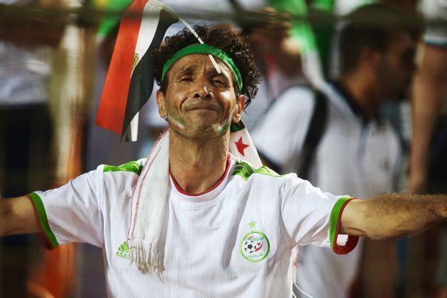 Un supporter de l'Algérie lors de la demie-finale face au Nigeria, le 14 juillet 2019 au Caire,