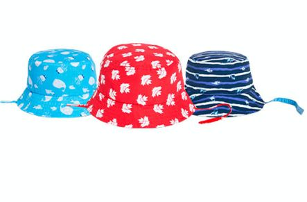 This image of Joe Fresh brand baby sun hats was posted on the company's website as a product recall.