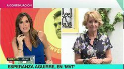 La ácida despedida de Mamen Mendizábal y Esperanza Aguirre en 'Más Vale Tarde':