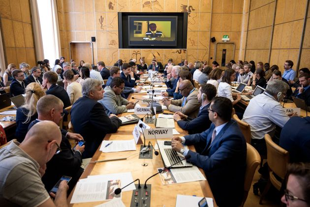 Meeting held by the United Nations on the Ebola disease in Democratic Republic of Congo, on July 15,...