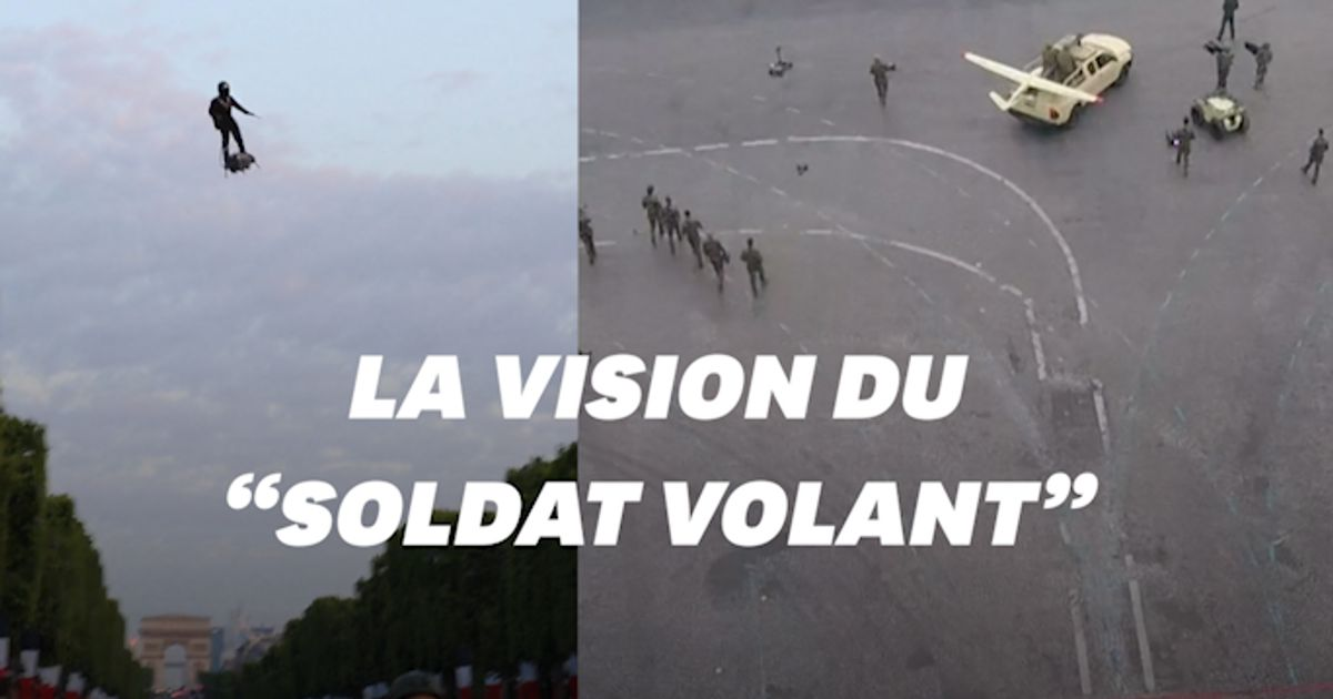 """Les images GoPro du """"soldat volant"""" qui a épaté tout le monde le 14 juillet"""