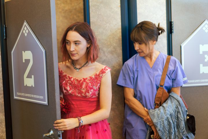 "Saoirse Ronan and Laurie Metcalf in ""Lady Bird."""