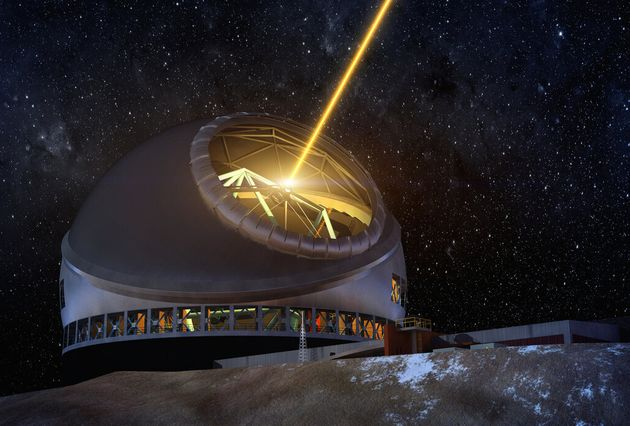 An artist concept of the Thirty Meter Telescope at