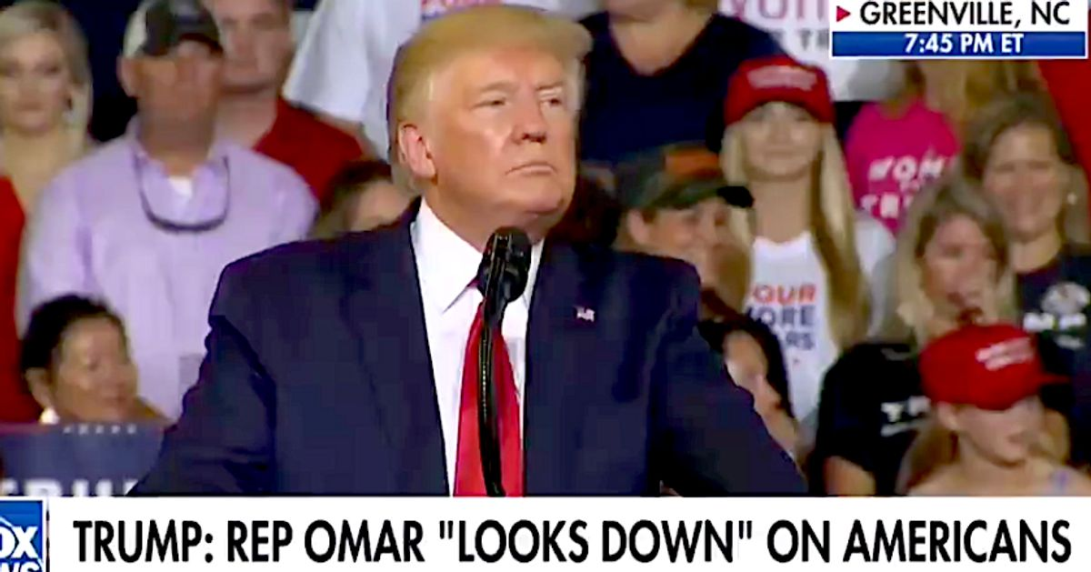 'Send Her Back!' Trump Rally Erupts With New Racist Chant About Rep. Ilhan Omar thumbnail