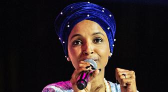 Rep. Ilhan Omar, D-Minn., speaks at the 2019 Essence Festival at the Ernest N. Morial Convention Center on Saturday, July 6, 2019, in New Orleans. (Photo by Amy Harris/Invision/AP)