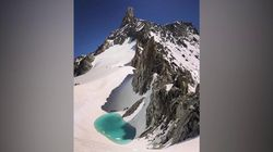 C'è un lago sul Monte Bianco. L'alpinista: