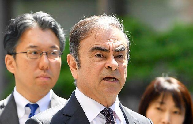 Carlos Ghosn à Tokyo le 23 mai
