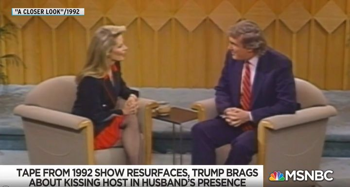 """Donald Trump appears on NBC's """"A Closer Look"""" and talks about how he kissed host Faith Daniels without her consent in 1992."""