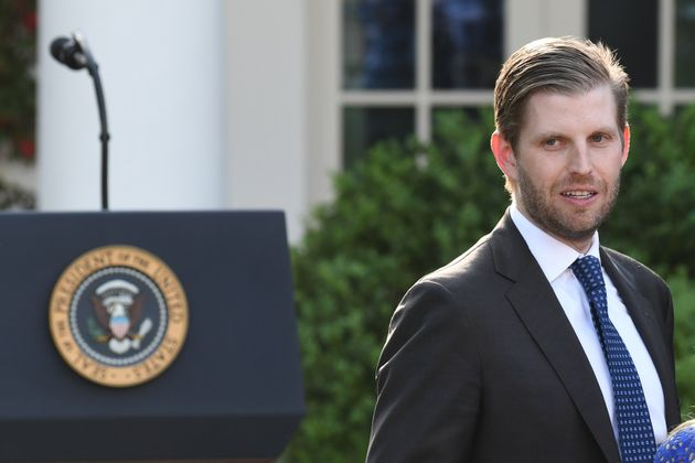 Eric Trump, son of U.S. President Donald Trump, attends a ceremony at the White House in May