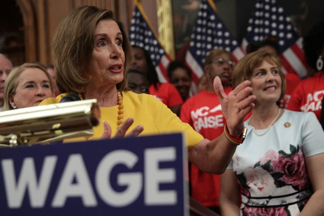 House Speaker Nancy Pelosi said the bill to increase the federal minimum wage would provide a