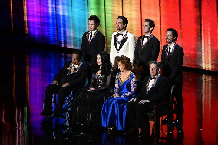 """Hamilton"" co-creator Lin-Manuel Miranda and his collaborators were celebrated during the 2018 Kennedy Center Honors."