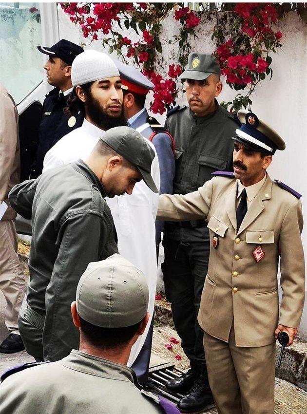 El cerebro del grupo yihadista, Abdessamad Al Joud, a su llegada al