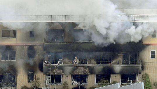 L'incendie criminel d'un studio d'animation au Japon fait 33