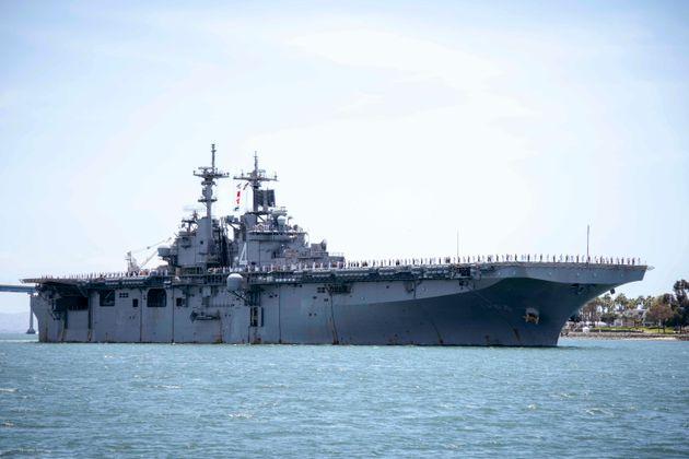 L'USS Boxer, ici pris en photo le 1er mai 2019 dans la baie de San Diego en