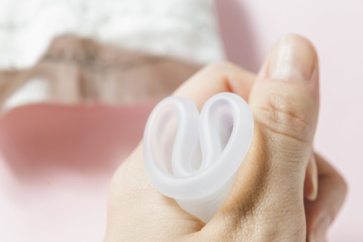 Menstrual cups are usually made of silicone, rubber, or latex.