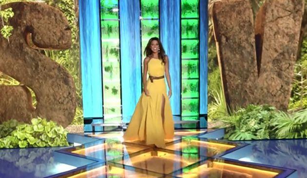 El descuido de Lara Álvarez con su vestido en la final de