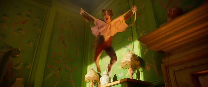 """A still image from the new trailer for the film """"Cats."""""""