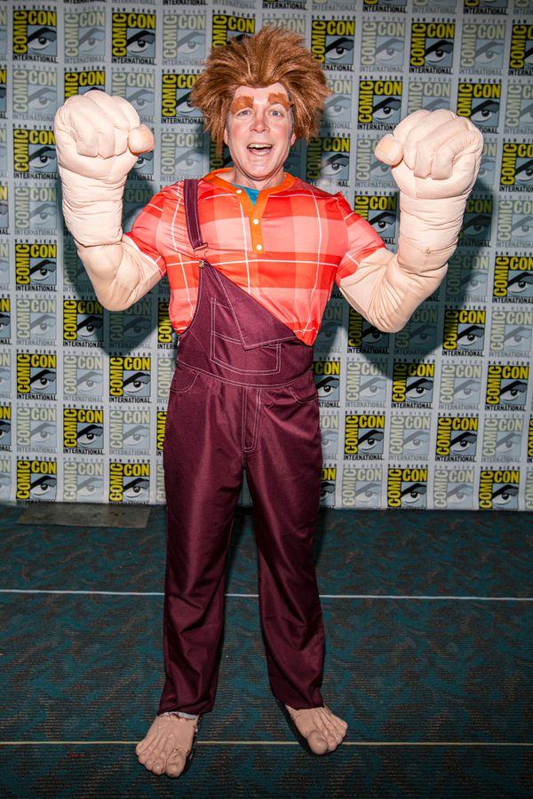 Cosplayer Steve Galvin as Wreck-It Ralph.