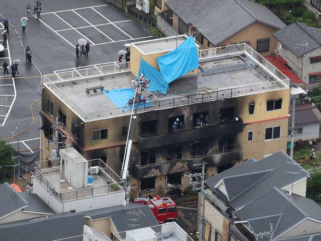 '교토 애니 방화 사건' 33명 사망 : 30년 만에 최악의 화재