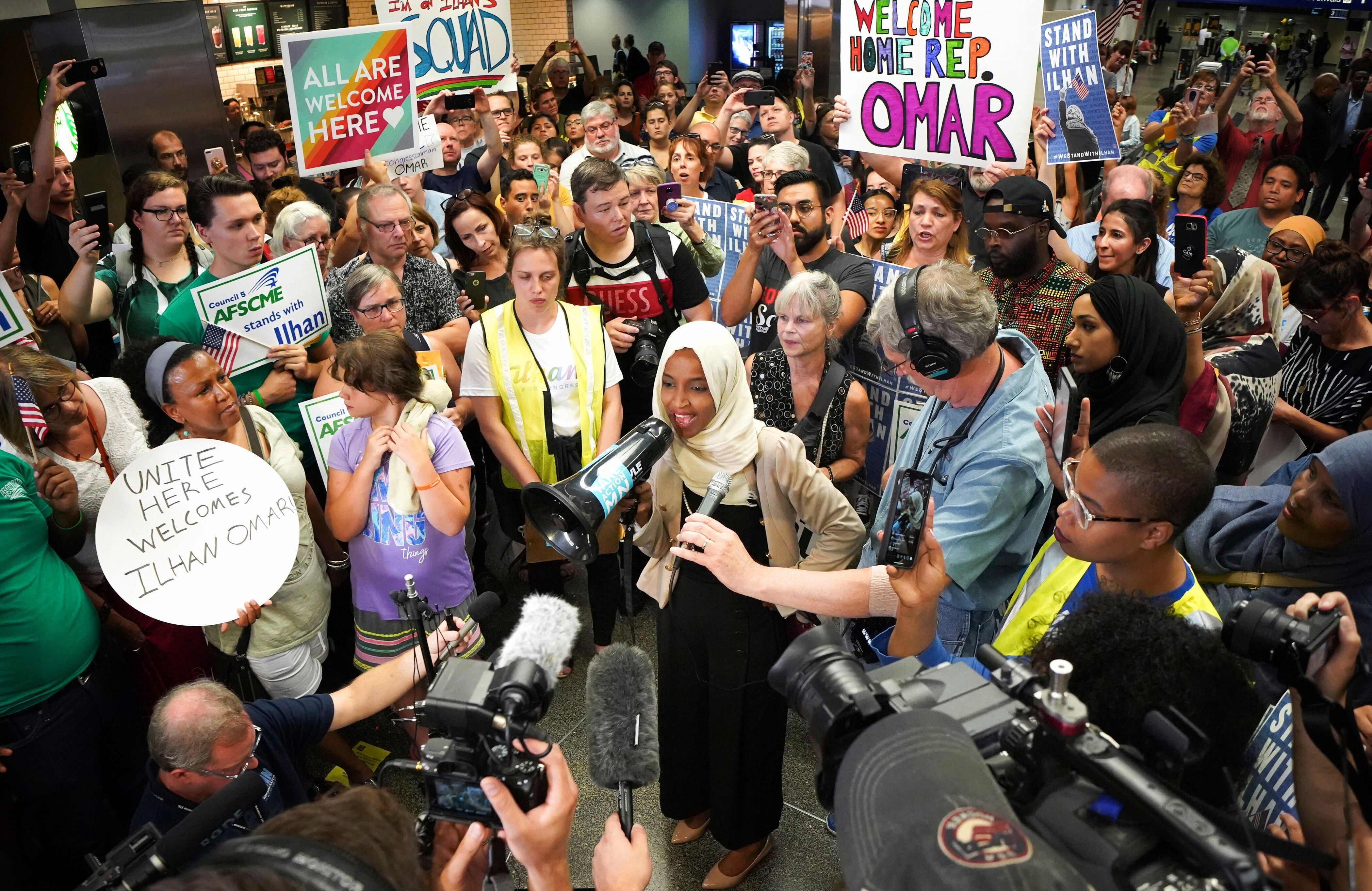 Rep. Ilhan Omar Gets Hero's Welcome ...