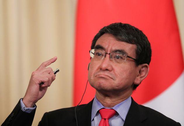일본 고노 외상이 주일 한국대사를 초치해